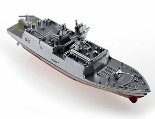 Tipmant Military RC Naval Ship Vessel Model A ways off Control Boat Speedboat Yacht Electrical Water Kids Toy – Silver