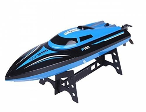 DeXop A ways away Regulate Boat Rc Boat H100 2.4Ghz 4CH A ways away Regulate Electric Racing Boat High Slither Boats with LCD Conceal for Adults &