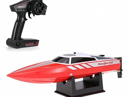 Costzon Vector28 2.4G RC Excessive Tempo 18 MPH (30 KM/H) Racing Boat RTR Radio with Remote Defend watch over for Swimming pools&