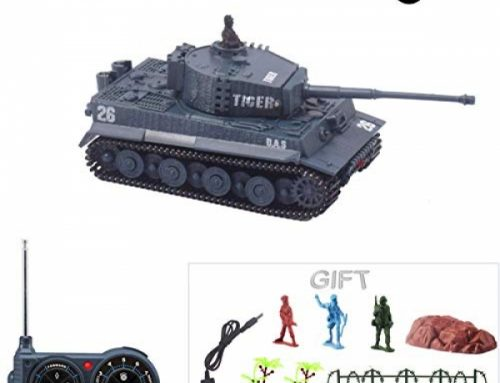 Fun-Right here Mini RC Tank with USB Charger Cable A ways off Control Panzer Tank 1:Seventy two German Tiger I with Sound,