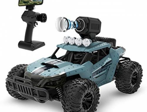 DEERC RC Autos DE36W A ways away Preserve watch over Automobile with 720P HD FPV Digicam, 1/sixteen Scale Off-Street RC Truck,