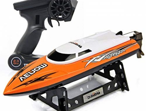 Cheerwing RC Racing Boat for Adults – Excessive Tempo Electronic Remote Defend watch over Boat for Children (Orange+White)