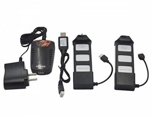 Blomiky 2 Pack Li-Poly 7.4V 1800mAH thirteen.32Wh 25C Battery for MJX Bugs5W B5 B5W F20 and B5W 4K GPS Brushless RC Quadcopter Drone B5W Battery 2