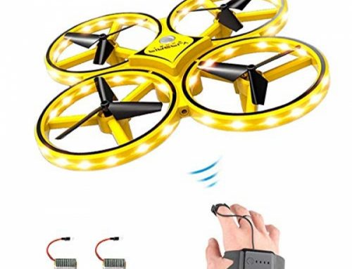 ForBEST Gesture Management Drone Rc Quadcopter Aircraft Hand Sensor Drone with Elegant Gaze Managed, 2 Batteries, 360° Flips, Led Gentle, three Modes, USB Cable, Finest Reward for Kid
