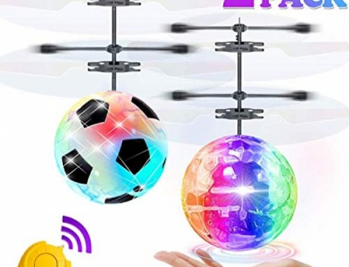 2 Pack Flying Ball Toys, RC Flying Toys for Kids Boys Ladies Vacation Easter Birthday Gifts Far away Abet an eye on Drone Helicopter Rechargeable Gentle Up Ball Infrared Induction RC Drone Toy