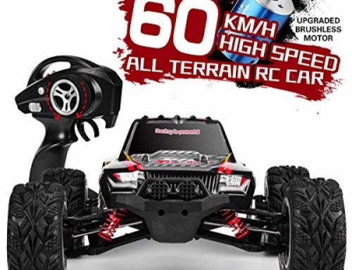 INGQU 1:12 Scale High Flee 60km/h four wheel power Off-Avenue RC Vehicle 2.4Ghz Brushless A ways away Alter Monster Truck (Dark)