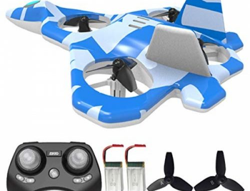 Mayceyee F22 RC Drones for Children and Beginner, Easy to Hover and Hover, RC Helicopter Quadcopter Fighter Jet with 360° Flip, LED Light Indication, 2 Batteries.