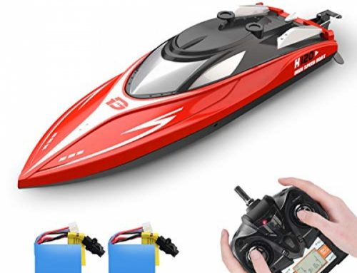 DEERC H120 RC Boat Remote Attend watch over Boats for Swimming pools and Lakes, 20+ mph 2.4 GHz Racing Boats for Childhood and Adults with 2 Rechargeable Battery,