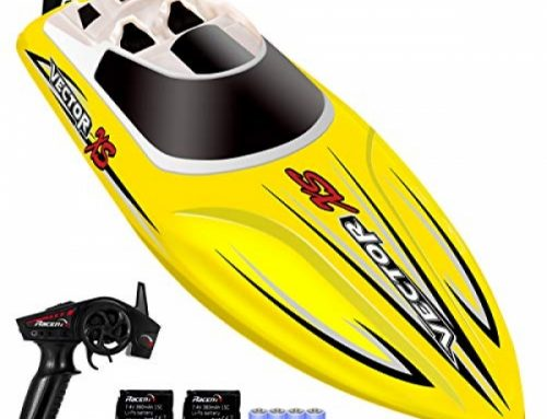 YEZI Distant Regulate Boat for Pools & Lakes,Udi001 Venom Like a flash RC Boat for Kids & Adults,Self Righting Distant Managed Boat W/Extra Battery (Yellow)