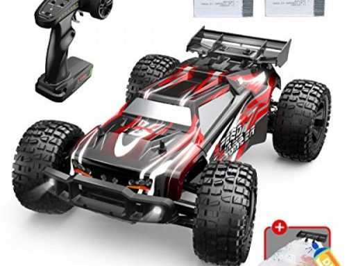 DEERC 9206E Faraway Relieve a watch on Vehicle 1:10 Scale Astronomical RC Vehicles Forty eight+ kmh High Tempo for Adults Boys Diminutive one,Extra Shell four wheel pressure 2.4GHz Off Highway Monster RC Truck,All Terrain Crawler Gift with 2 Battery for 40+ Min Play