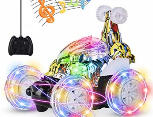 UTTORA Distant Control Car, RC Stunt Car Invincible Twister Twister Distant Control Rechargeable Vehicle with Radiant Lights & Tune Swap for Children (Mask)