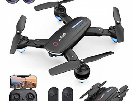 Zuhafa Drone T4 WiFi FPV RC with 1080P HD Camera for Kids and Adults, for Newbies-Altitude Aid Mode, RTF One Key Salvage Off/Landing, Gesture Control,APP…