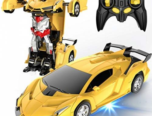 Desuccus Some distance flung Regulate Car, Turn out to be Robot RC Car for Children, 2.4Ghz 1:18 Scale Model Racing Car with One-Button Deformation, 360°Drifting,…