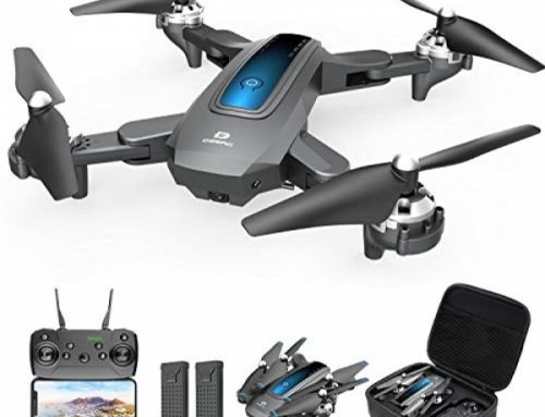 DEERC Drone with Digicam 720P HD FPV Dwell Video 2 Batteries and Carrying Case, RC Quadcopter Helicopter for Kids and Adults, Gravity Relief watch over,…