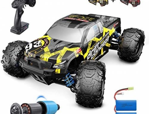 DEERC Brushless RC Vehicles 300E 60KM/H High Crawl A ways off Regulate Automobile Four wheel force 1:18 Scale Monster Truck for Formative years Adults, All…
