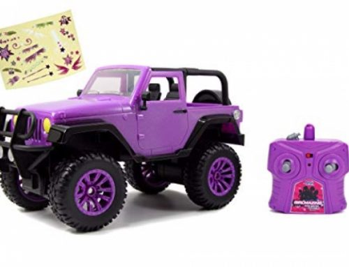 Jada Toys GIRLMAZING Colossal Foot Jeep R/C Car (1:16 Scale), Red