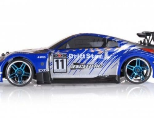 Exceed-RC 2.4Ghz Brushless Model Waft Megastar Electrical Powered RTR A long way-off Retain a watch on Waft Racing Car 350 Carbon Blue Vogue