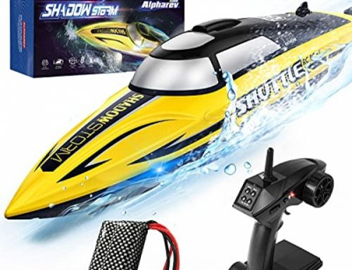 RC Boat- AlphaRev R208 20+ MPH Quickly A ways-off Shield watch over Boat for Pools and Lakes, RC Boats for Adults and Youngsters (Yellow.)